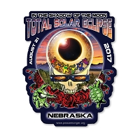 EC014 - Nebraska Eclipse Your Face Grateful Dead Total Solar Eclipse 2017 Sticker