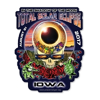 EC017 - Iowa Eclipse Your Face Grateful Dead Total Solar Eclipse 2017 Sticker