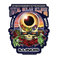 EC018 - Illinois Eclipse Your Face Grateful Dead Total Solar Eclipse 2017 Sticker