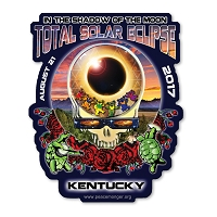 EC019 - Kentucky Eclipse Your Face Grateful Dead Total Solar Eclipse 2017 Sticker