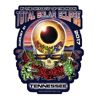 EC020 - Tennessee Eclipse Your Face Grateful Dead Total Solar Eclipse 2017 Sticker