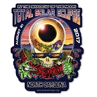 EC022 - North Carolina Eclipse Your Face Grateful Dead Total Solar Eclipse 2017 Sticker