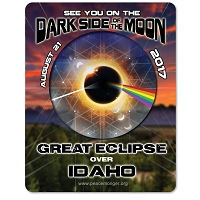 EC026 - Idaho - Dark Side of the Moon Total Solar Eclipse 2017 Sticker