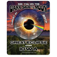 EC027 - Iowa - Dark Side of the Moon Total Solar Eclipse 2017 Sticker