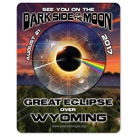 EC028 - Wyoming - Dark Side of the Moon Total Solar Eclipse 2017 Sticker
