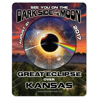 EC029 - Kansas - Dark Side of the Moon Total Solar Eclipse 2017 Sticker
