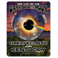 EC032 - Kentucky - Dark Side of the Moon Total Solar Eclipse 2017 Sticker