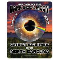 EC033 - North Carolina - Dark Side of the Moon Total Solar Eclipse 2017 Sticker