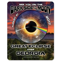 EC035 - Georgia - Dark Side of the Moon Total Solar Eclipse 2017 Sticker