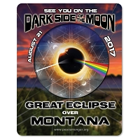 EC037 - Montana - Dark Side of the Moon Total Solar Eclipse 2017 Sticker