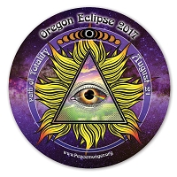 EC038 - Oregon All Seeing Eye Total Eclipse Souvenir Sticker