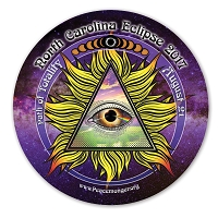 EC040 - North Carolina All Seeing Eye Total Eclipse Souvenir Sticker