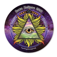 EC046 - Iowa All Seeing Eye Total Eclipse Souvenir Sticker