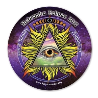EC047 - Nebraska All Seeing Eye Total Eclipse Souvenir Sticker