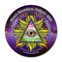 EC051 - Great American All Seeing Eye Total Eclipse Souvenir Sticker