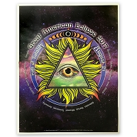 EC053 - Great American Eclipse All Seeing Eye Poster Print