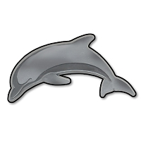 F40 - Dolphin Fish 3D Chrome Auto or Truck Emblem