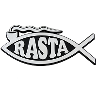 F69-MAG - Rasta Fish Silver Finish Car 5