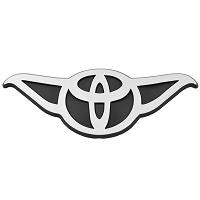 F72 - Toyoda 3D Chrome Auto Car or Truck  Logo Sticker Emblem