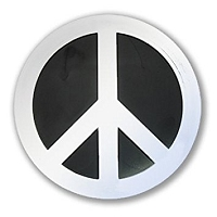 F75-MAG  - Peace Symbol 3D Chrome Auto Car Truck 4