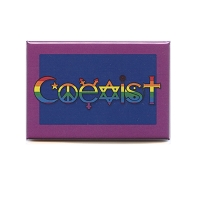 FM088 Transgender Coexist Symbols LGBT Trans Rights Rainbow Fridge Magnet