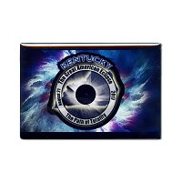FMEC004 - Great American Eclipse 2017 Fridge Magnet - Kentucky