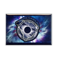 FMEC006 - Great American Eclipse 2017 Fridge Magnet - South Carolina