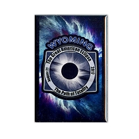 FMEC007 - Great American Eclipse 2017 Fridge Magnet -  Wyoming