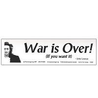 MS005 - War is Over John Lennon Quote Mini Sticker