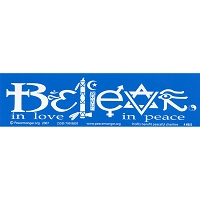MS003 - Believe in Love in Peace Mini Sticker