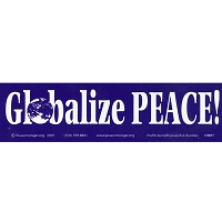 MS011 - Globalize Peace Mini Sticker