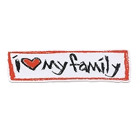 MS126 - I Love My Family! Mini Sticker