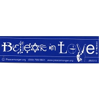 MS013 - Believe In Love SymbolGlyph Mini Sticker
