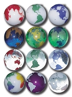 SV01-12PK - Rainbow Earth Marbles - Set Of 12 In A Pouch