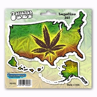 RG102 American Rasta Ganja Legalize Cannabis Marijuana Pot Leaf 3 Sticker Set