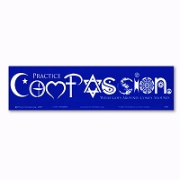 S067 Compassion Symbol Glyph Letters Love Peace Faith Interfaith Sticker Decal