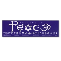 S082 - Believe in Peace Bumper Sticker