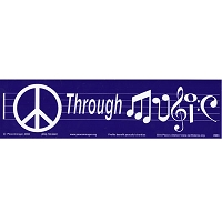MS015 - Peace Through Music Mini Bumper Sticker