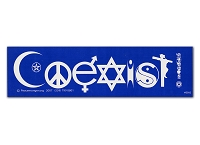 S092 - Coexist Humanist Bahai Bumper Sticker