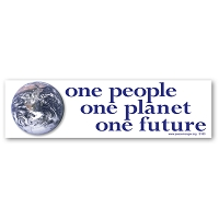 S180 - One People, One Planet Bumper Sticker