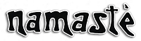 S540 - Namaste Black on Clear Large Bumper Sticker