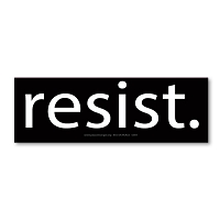 MS564 - Resist - Anti Trump Mini Sticker