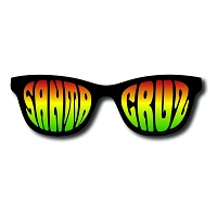SC008 - Santa Cruz Shades Die Cut Sticker (Ray)
