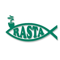 V046 - Rasta Fish Vinyl Cutout Window Sticker