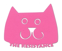 V074 - Pink Pussycat The Resistance Vinyl Cutout Window Sticker