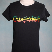 WT420 - Rasta Coexist Women's Fitted T-shirt