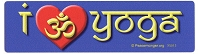 XS013 - I Love Yoga - Om Heart Micro Sticker