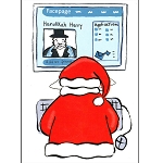 TO118 - Santa's Facebook Greeting Card with Envelopes