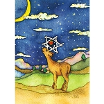 TO120 - Hanukkah Deer Greeting Card with Envelopes