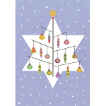 TO124 - Star of David Tree Greeting Card With Envelopes